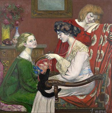 Les Coquettes, Jacqueline Marval, 1903. Huile sur toile, 130 x 130 cm. Collection privée, Paris.