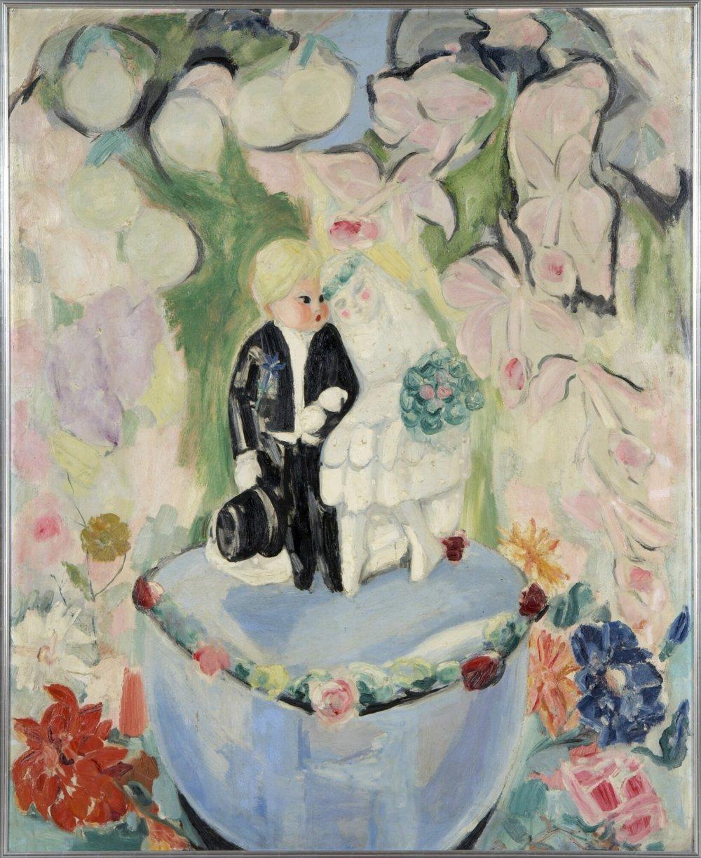 Bilboquet, Jacqueline Marval. Huile sur toile. Aujourd'hui présent dans la salle de mariage de la Mairie de Grenoble.
