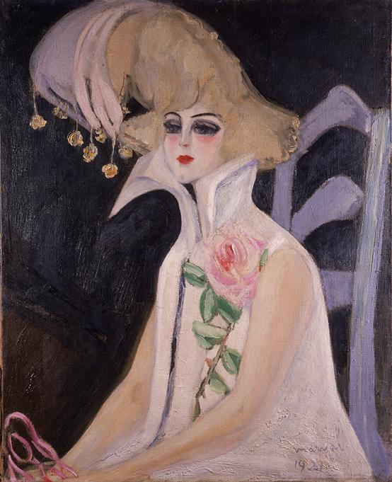 La Clownesse, portrait de Dolly Davis, Jacqueline Marval, 1921. Huile sur toile, 100 cm x 81 cm. Collection musée Sahut, Volvie.