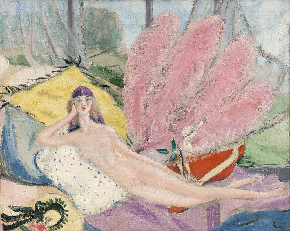 L'Étrange Femme, Jacqueline Marval, 1920. Huile sur toile, 130 x 162 cm. Collection privée, Paris.