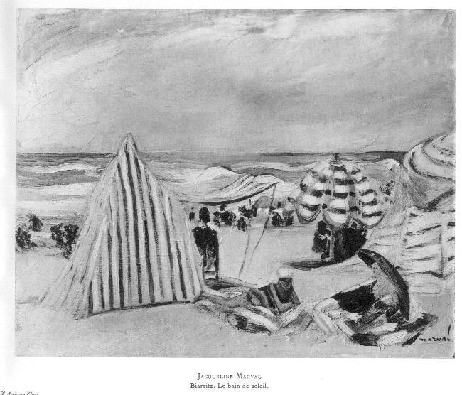 Biarritz, le Bain de Soleil, Jacqueline Marval.