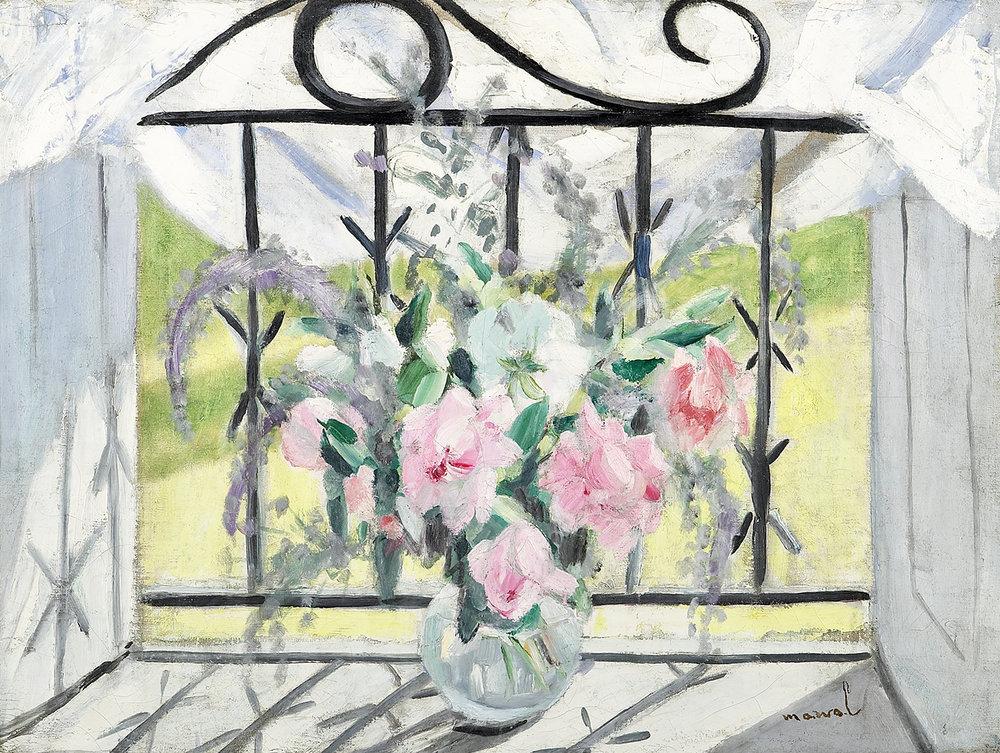 Bouquet à ma Fenêtre, Jacqueline Marval. Huile sur toile. Collection privée, Paris.