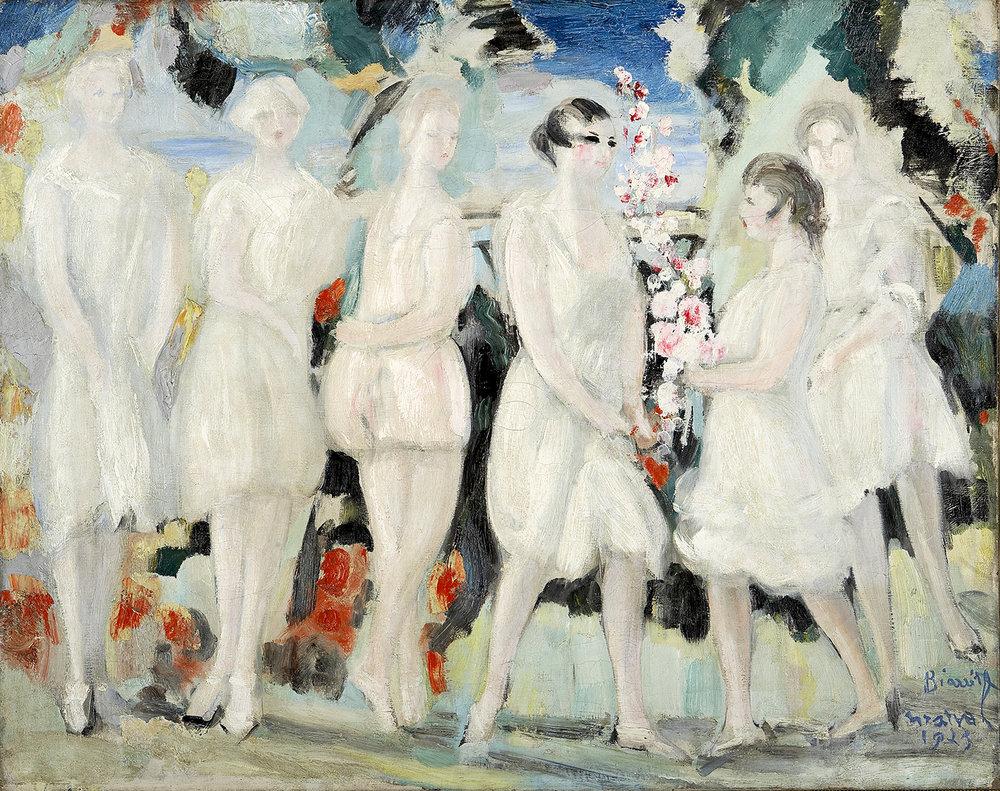 Jardin de mon Voisin, Jacqueline Marval. Huile sur toile. Collection privée, Paris.