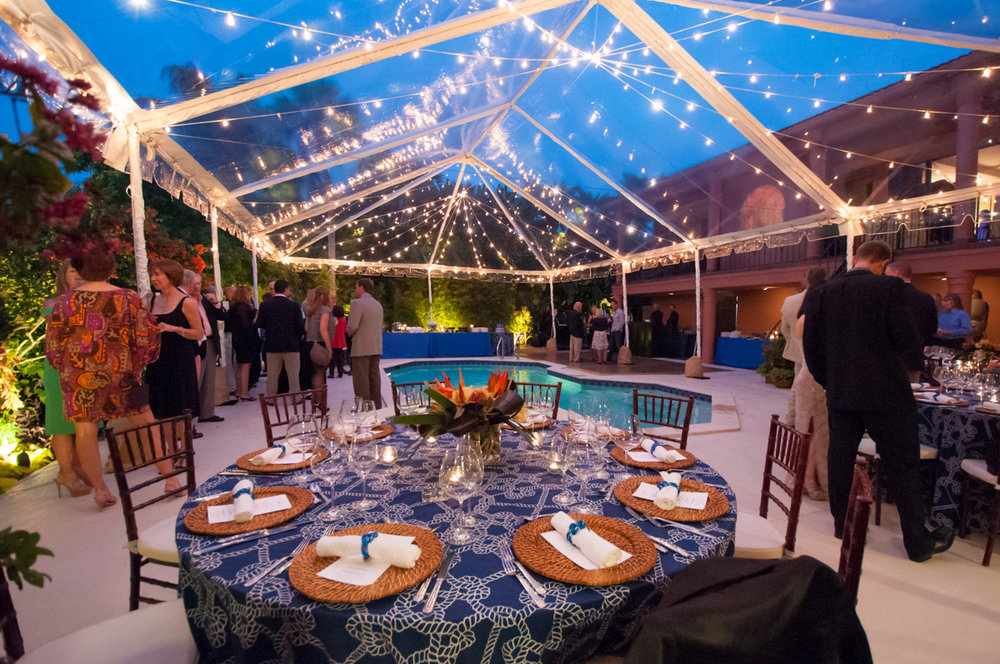 Private party with clear tent hosted by http://nkproductions.net/