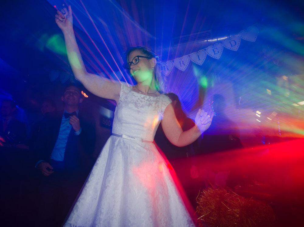 Bride dancing ISO 200, f/4.5, 1/2-second exposure
