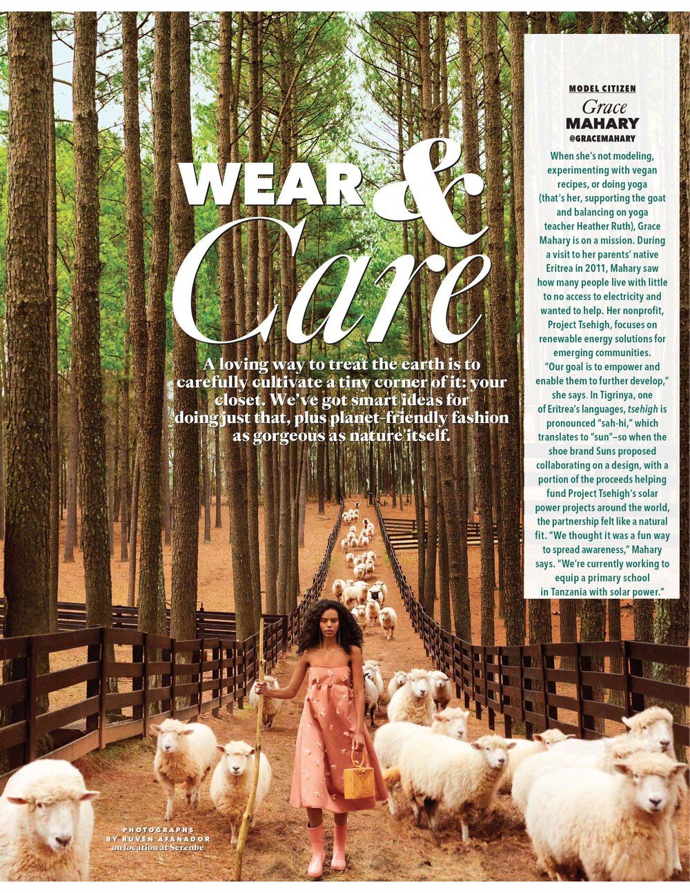 oprah magazine - PjT featured in O magazine April 2019 issue highlighting sustainability