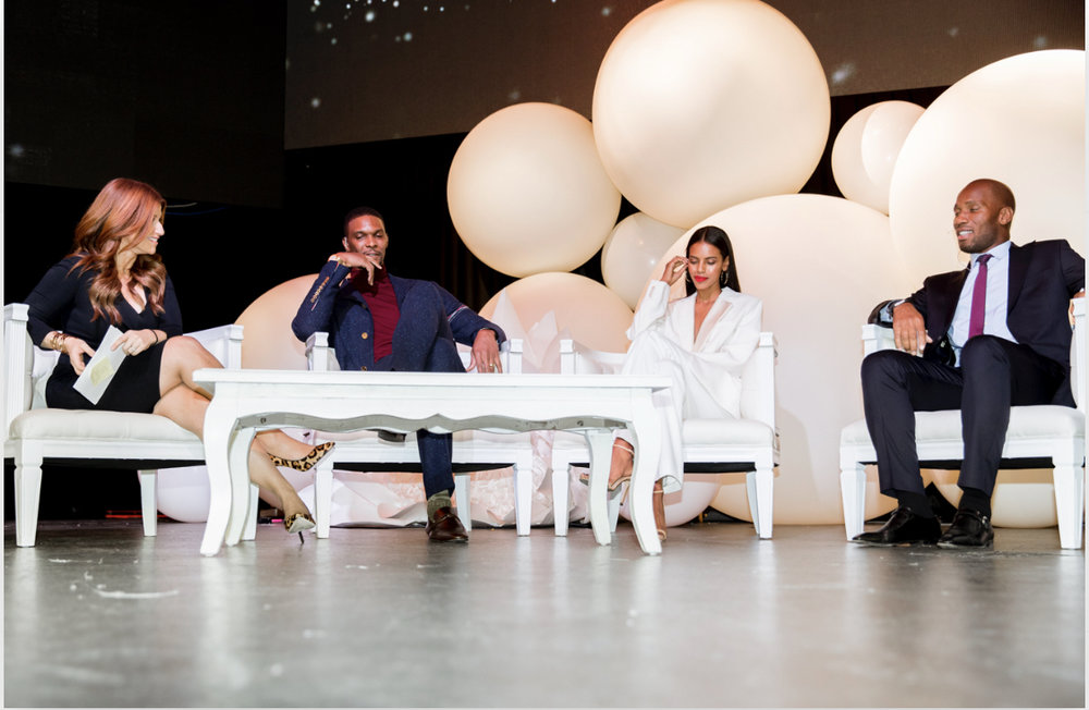 GIants of africa - PjT founder, Grace Mahary, joins Chris Bosh & Didier Drogba at GOA Mandela 100 panel discussing their respective efforts in building communities in Africa & around the world