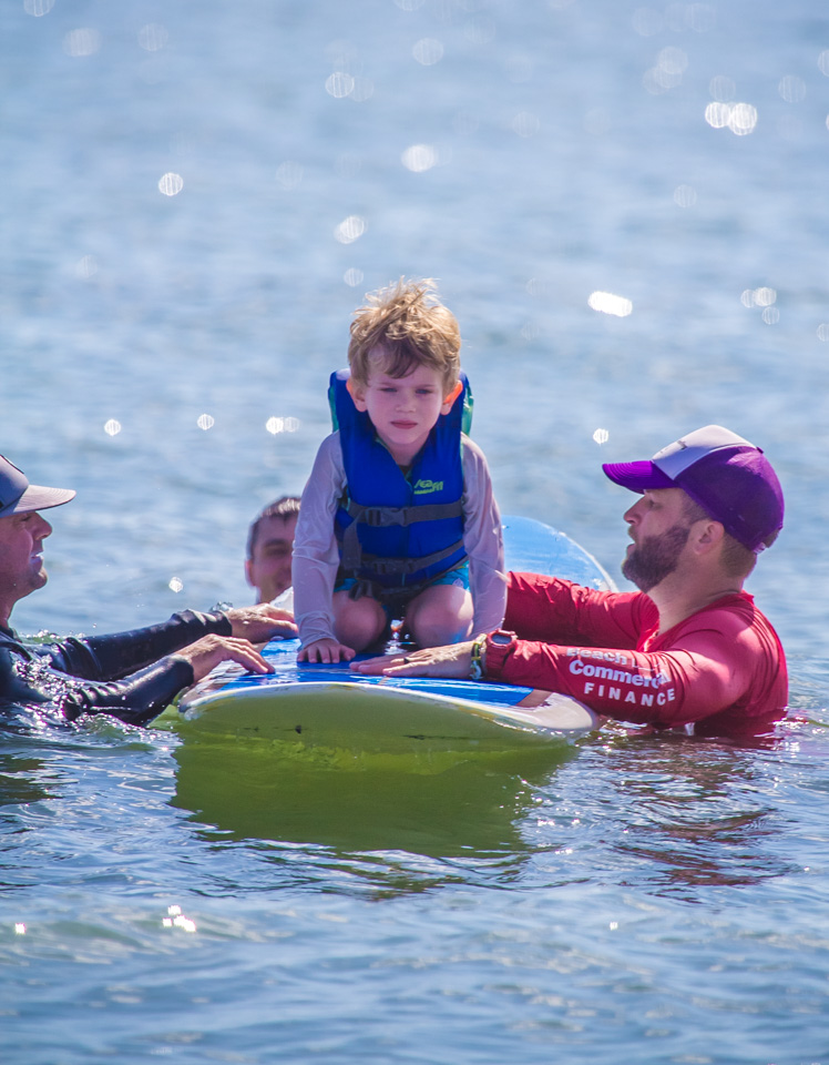 be a part of one perfect day… - When we help kids get up on a board, we're challenging preconceived notions of capability.