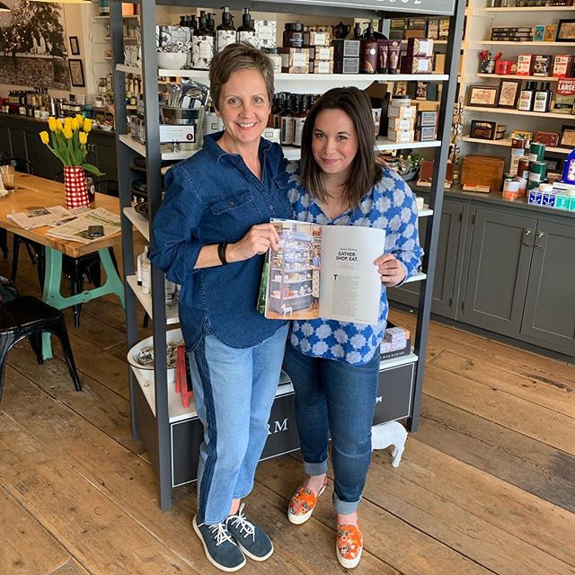 Coffee with the lovely Jenn of @wecangohomeagain, author of the article about us in @beekman1802almanac, as well as a host of other pieces in this issue! . . . @beekman1802boys  #vischerferrygeneralstore