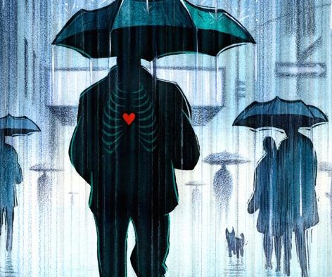 fb size-heart in rain