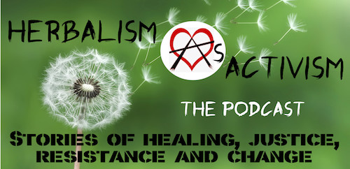 Herbalism As Activism logo - stories of - 500x242