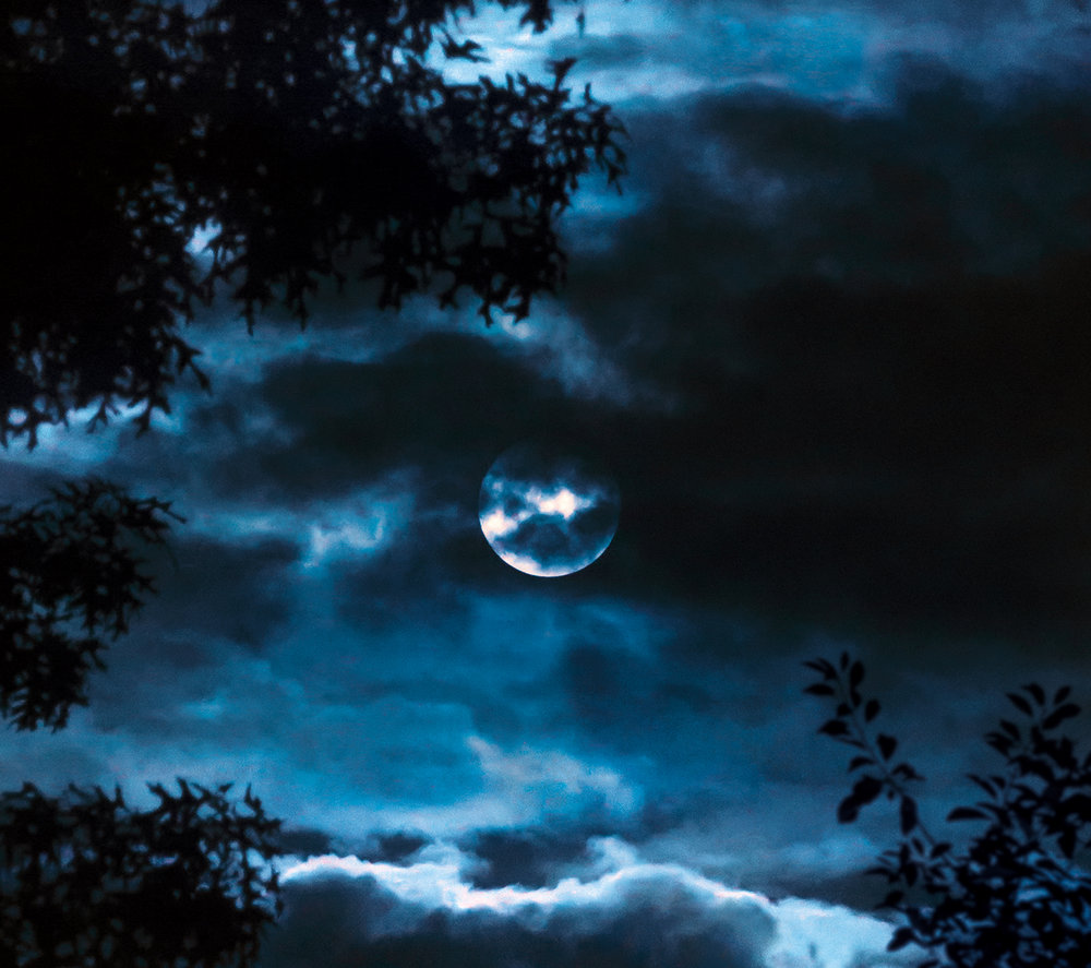 """An expression of a quiet moment, looking at the moon.What a thrill to sing when Mark O'Connor is in your head phones. - """"And as the clouds partI am telling my heartTo the moon, my old friendAnd the world cannot guessAll the things I confess or I pretend"""""""