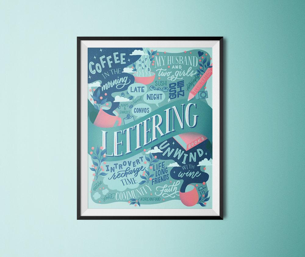 favorite-things-lettering-framed
