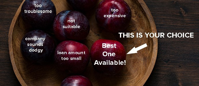 Imagine the fruits as loan offers. photo credit:  stocksnap