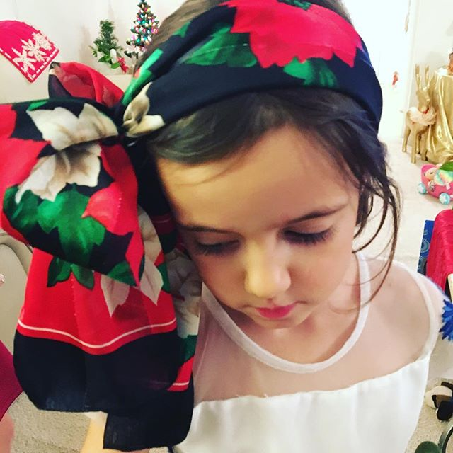 Eden is a gypsy. Thank you Titi #gypsyrose #merrychristmas