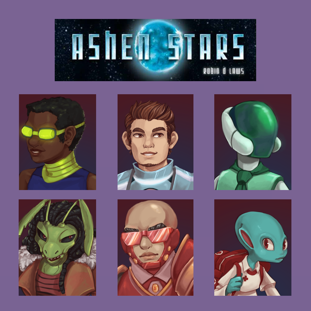 Ashen Stars - Bonus Feat 10.Look, let me make this easy for you: in this game, you play as a special type of bounty hunter called a LASER.