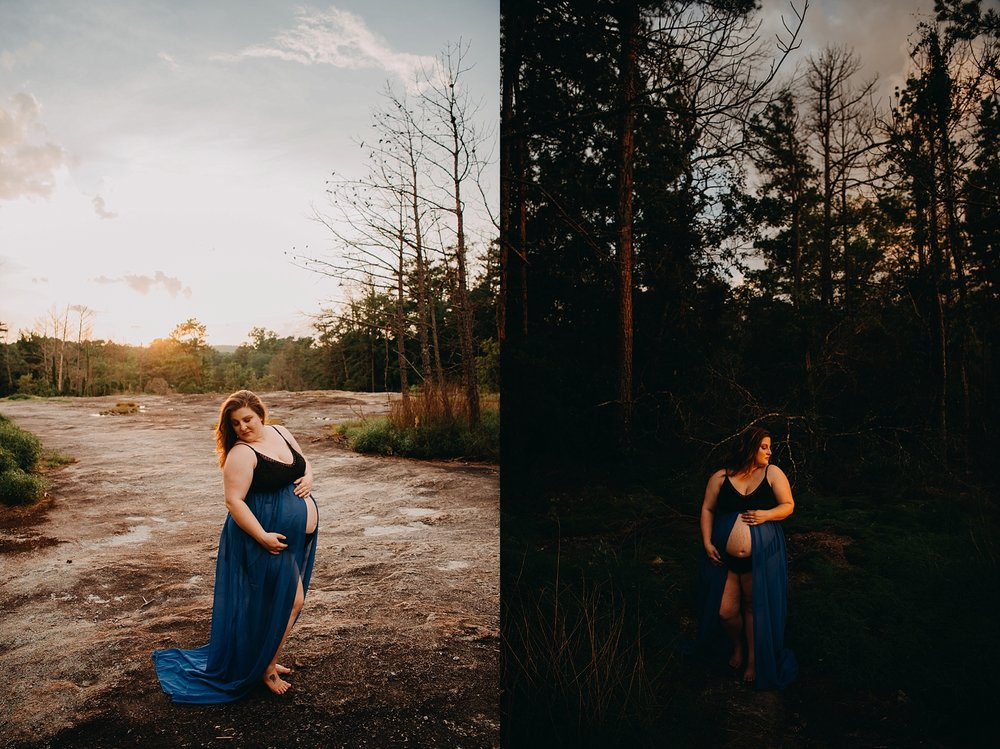 Arabia Mountain sunset shoot, Maternity Photography ideas, Best Atlanta Photographer, Atlanta Maternity photos