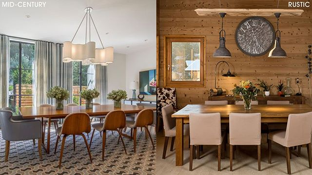 Mid-Century Modern or Rustic Modern?🤔 . . .  #towsleyconstruction #diningroom #entertaining #guests #dinner #dinnerparty #chandelier #lighting #wallart #table #chairs #curtains #blinds #neutraldesign #simple #clean #yqg #windsor #519 #226 #towsleyreno #yqgrenovations