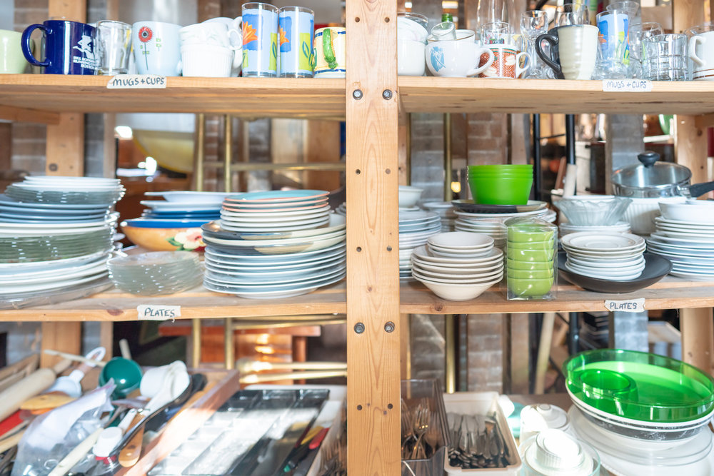 plates in the furniture bank