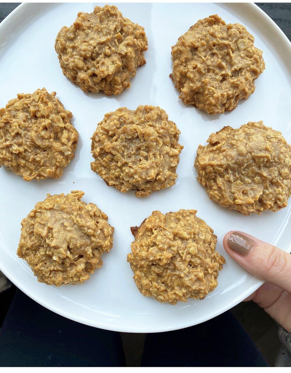 Healthy Peanut Butter Oatmeal Cookies Sammi Brondo Nyc Based Registered Dietitian Nutritionist