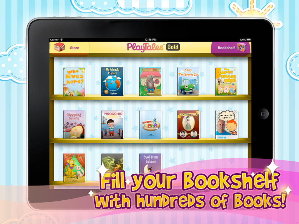 PlayTales-Gold-bookshelf-ipad