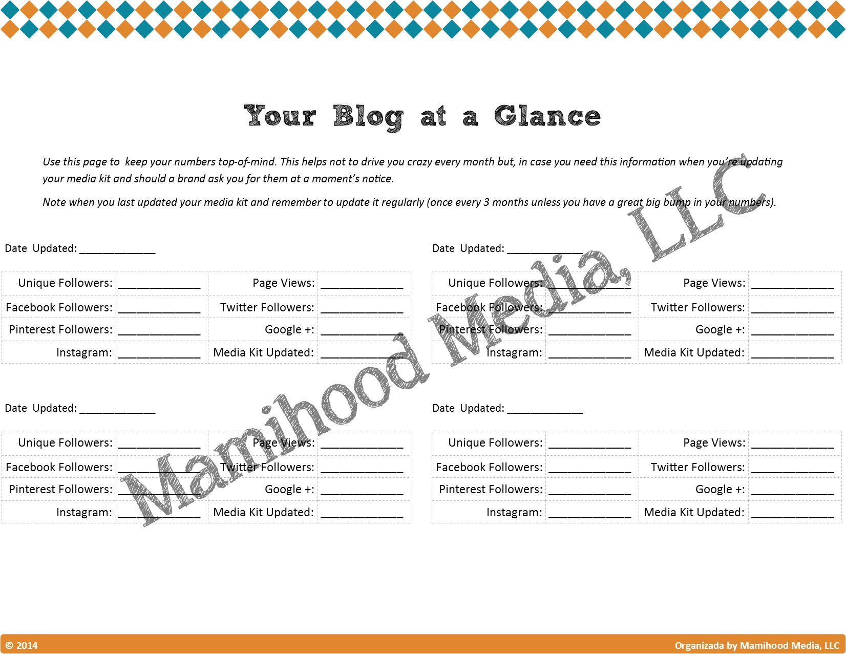 Blogataglance