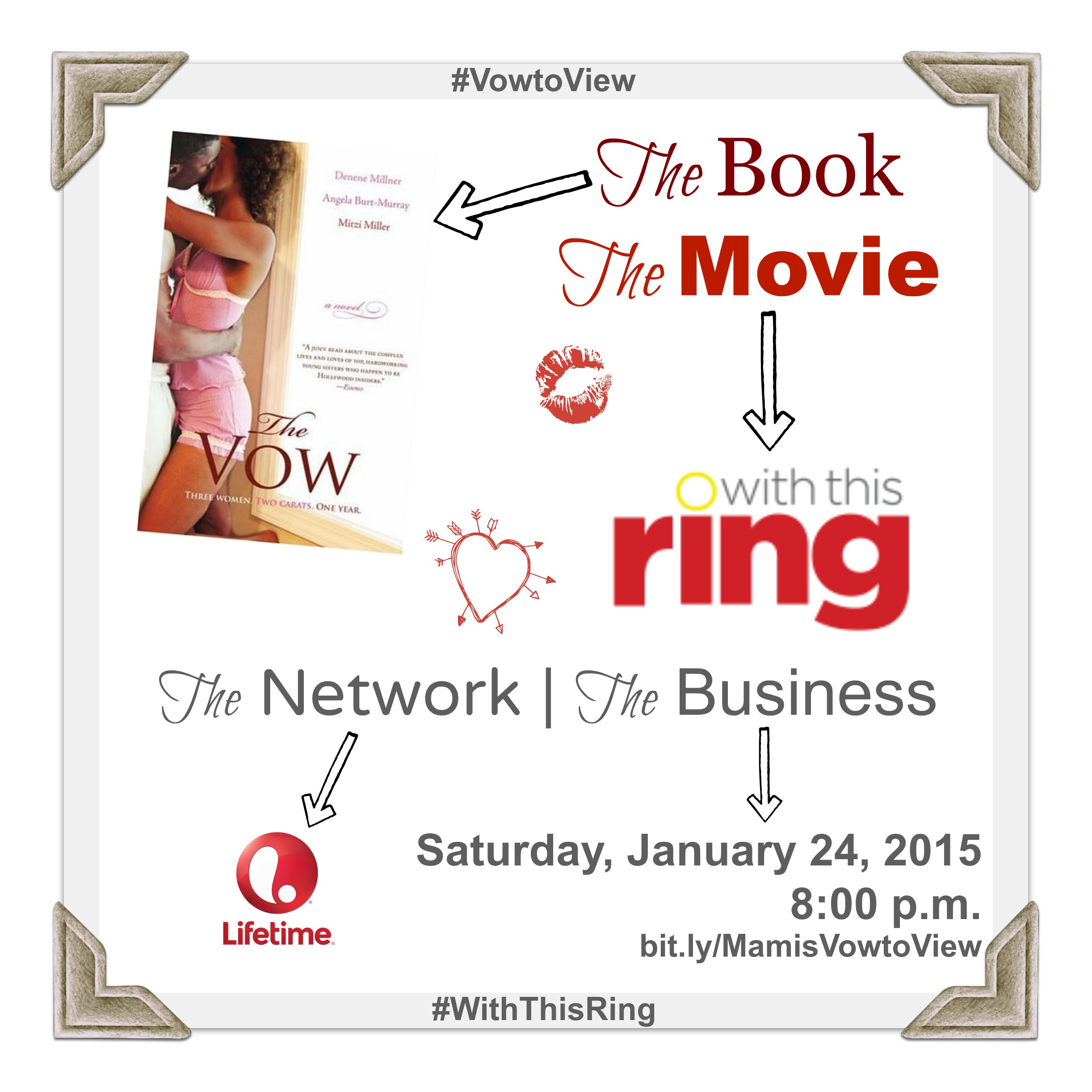#WithThisRing on Lifetime! Based on the book The Vow.
