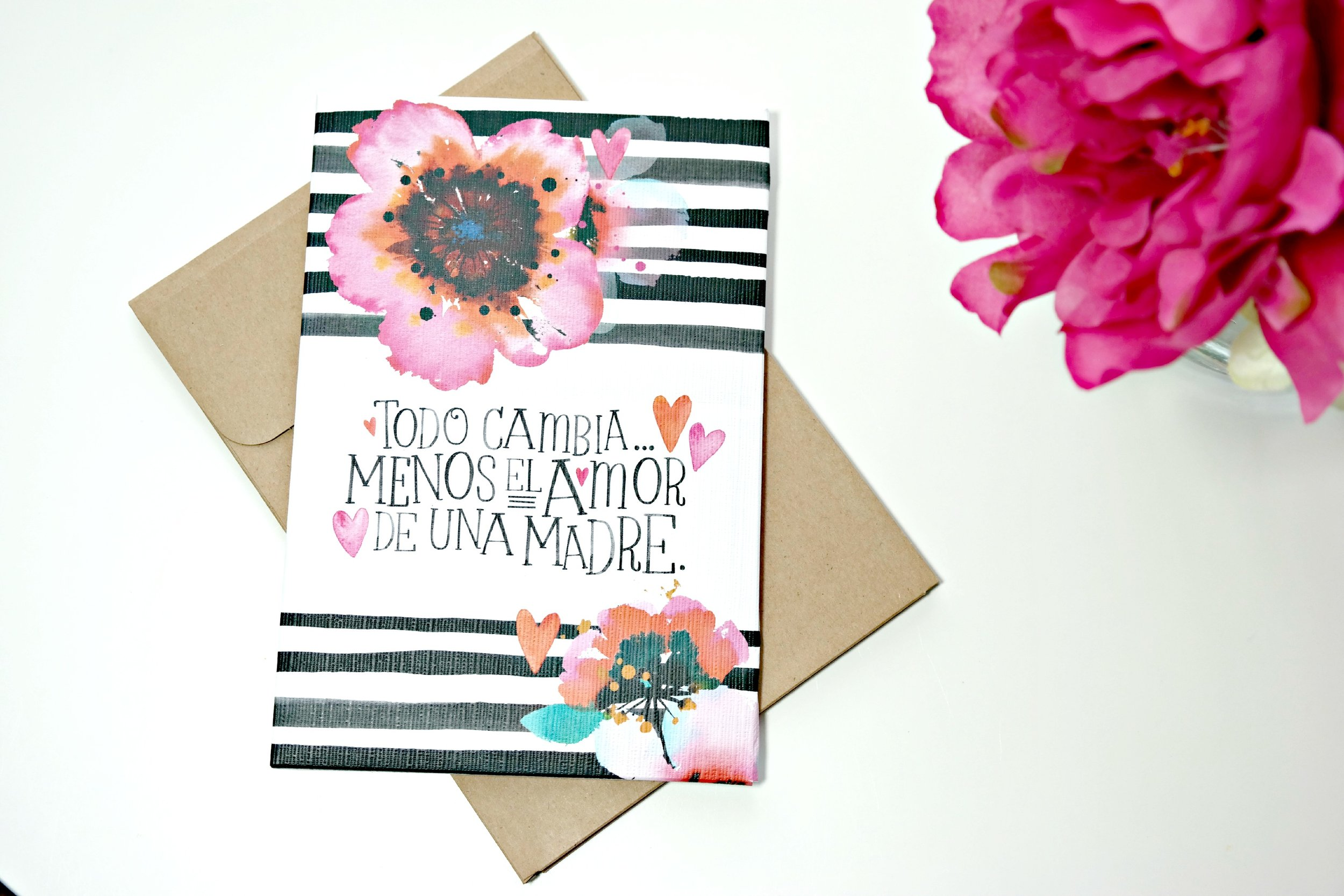 Amor de Madre. Loving the Spanish language cards. This one becomes a piece of art for your wall!