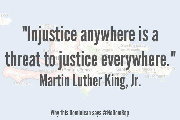 """Injustice anywhere is a threat to justice everywhere."""