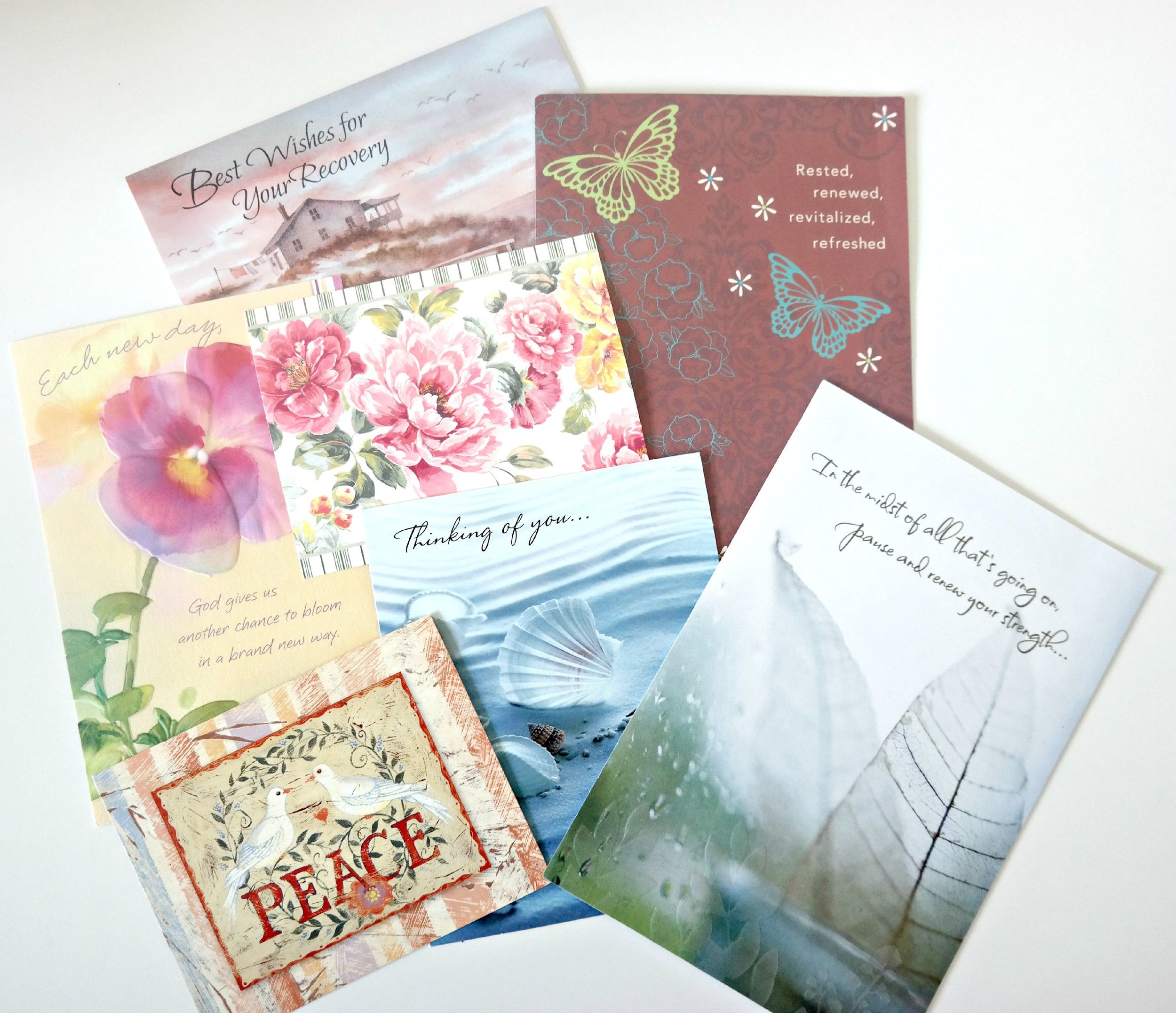 Cards that remind us someone is thinking of us in our time of need are the best!