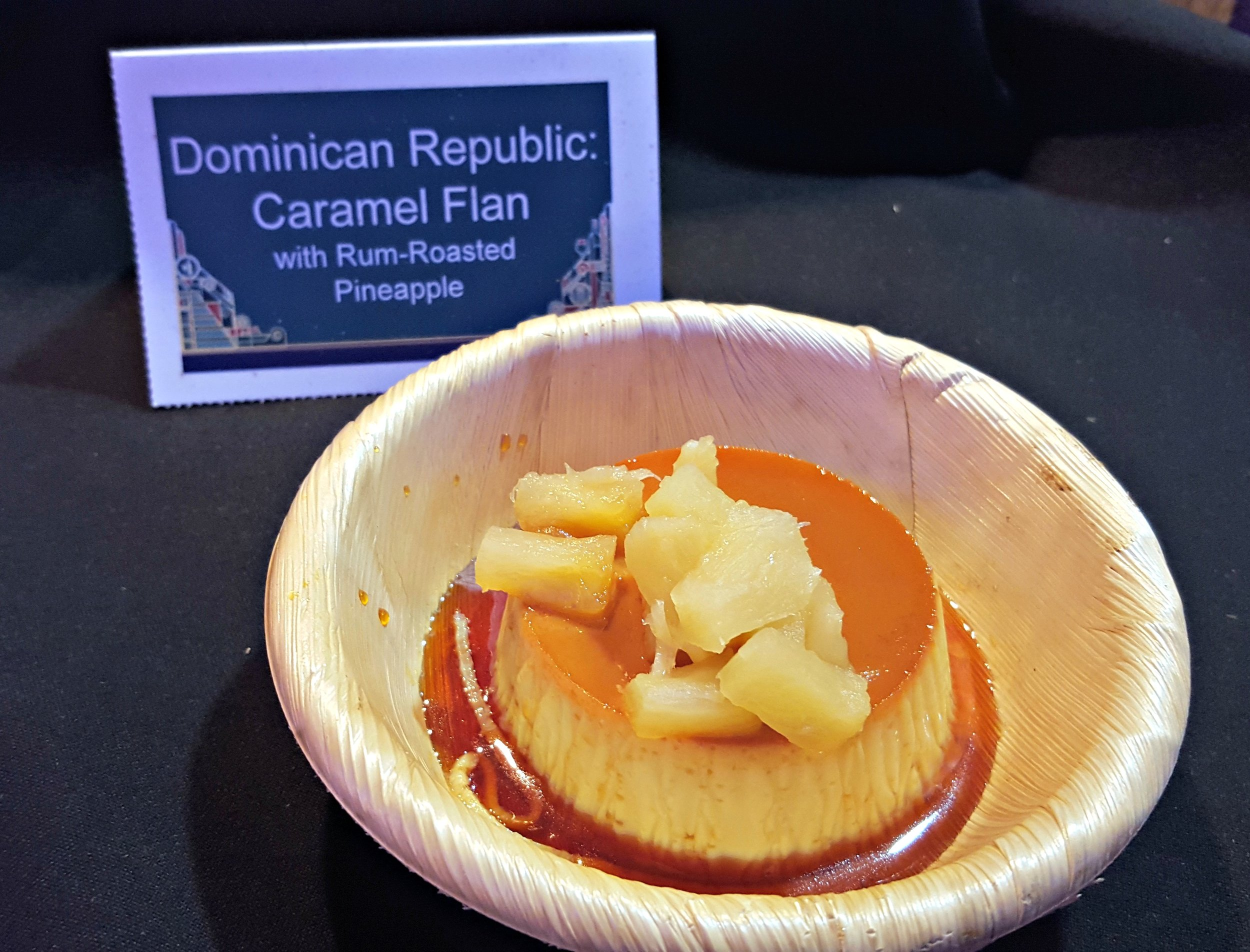 Caramel Flan with Rum Roasted Pineapples