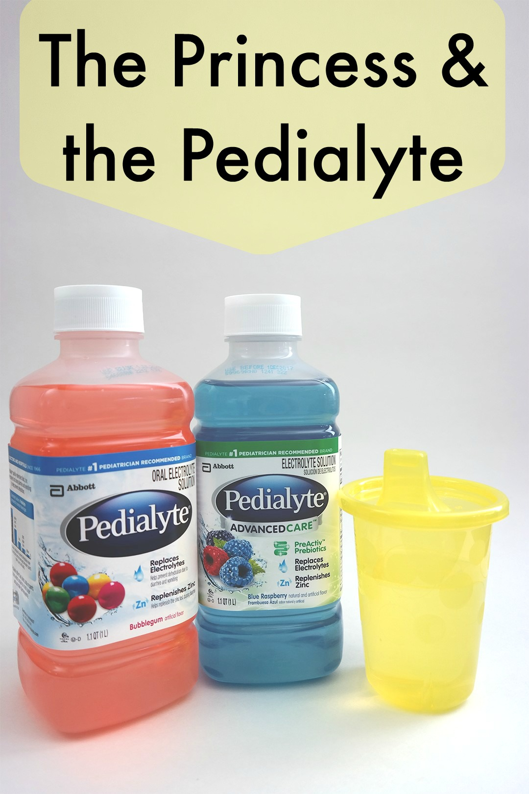 The princess and the Pedialyte. It's how I keep the kid hydrated when she's sick.