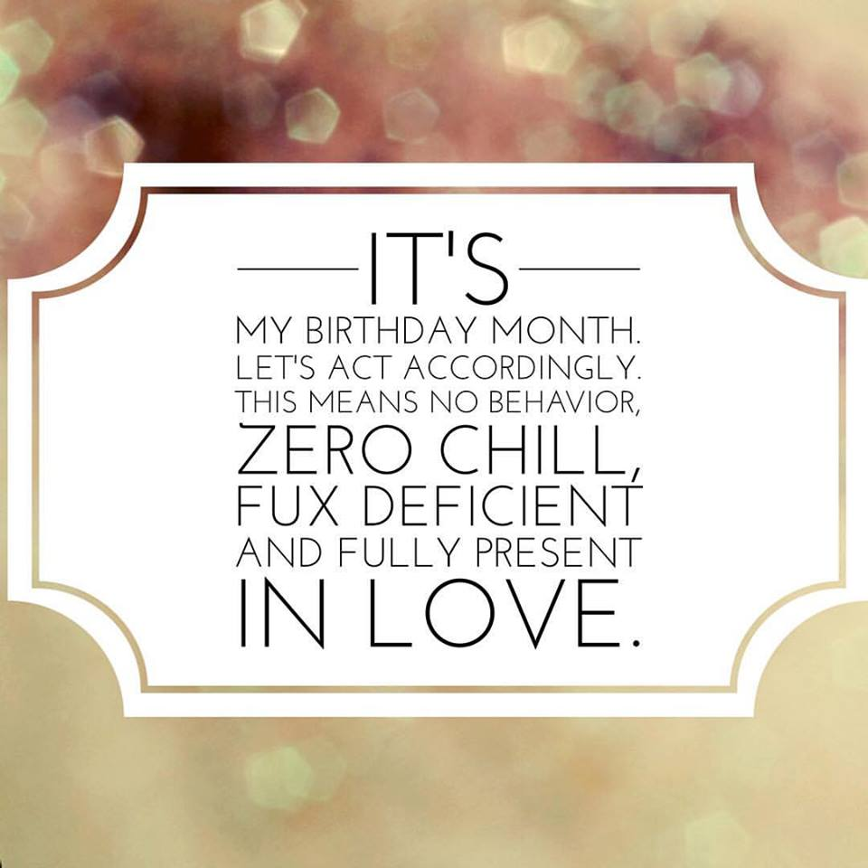 Birthday month declaration