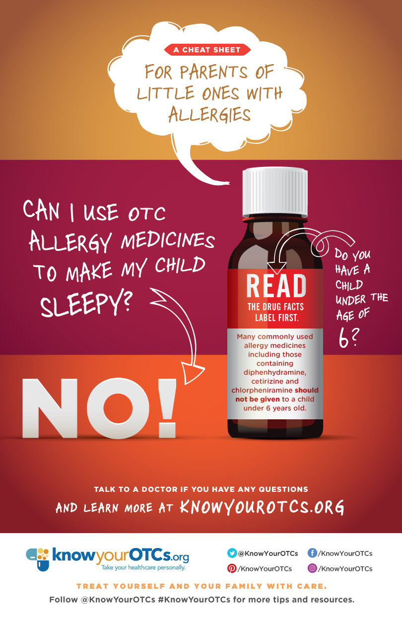 Don't use allergy medicines to make your child sleepy!