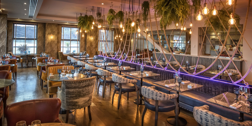 Portfolio - The Quay Hotel & SpaTSL were the main electrical contractors on the recent refurbishment of the Bar & Restaurant within this 4☆ luxury hotel located on the North West Coast of Wales.