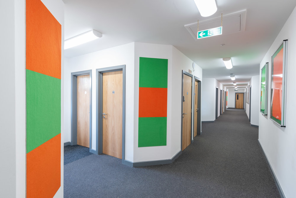 School interior showing hallways
