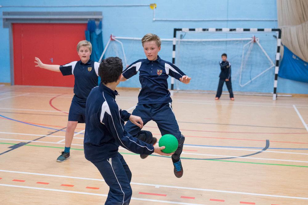 Handball game at school
