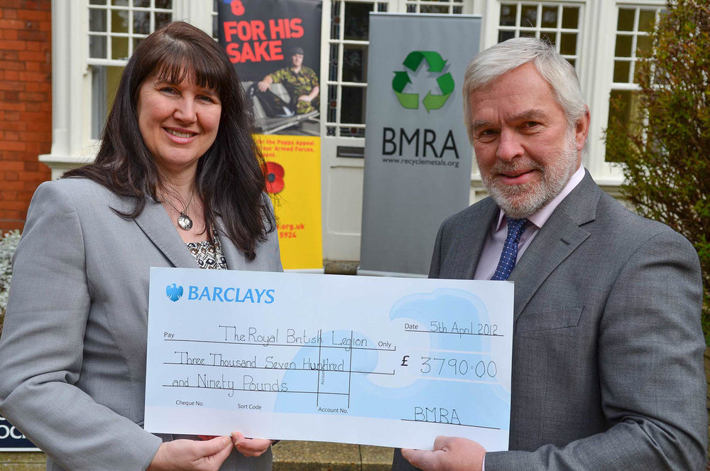 BMRA presents a cheque to British Legion