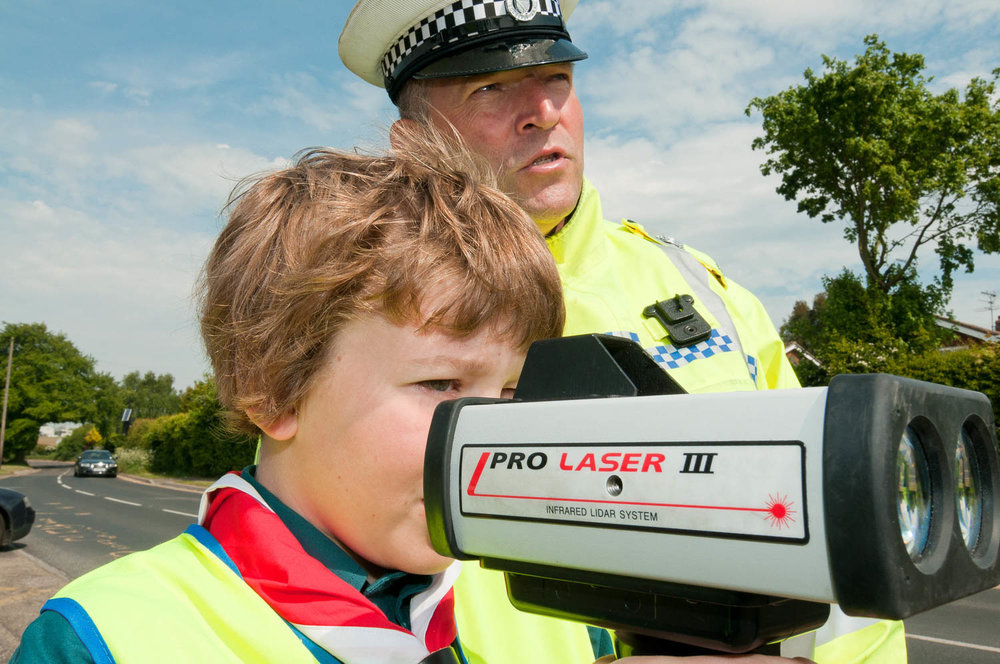 Scouts using speed guns