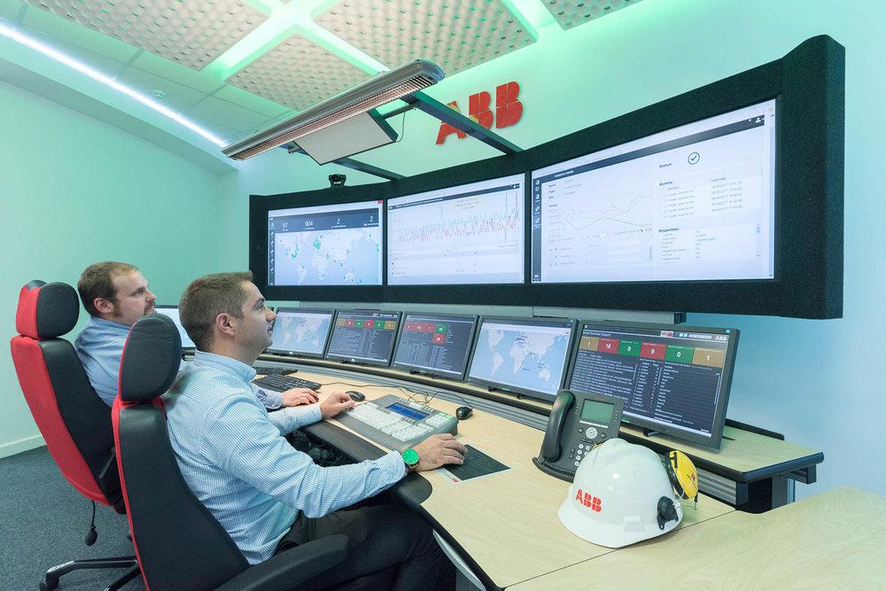 Control centre at ABB
