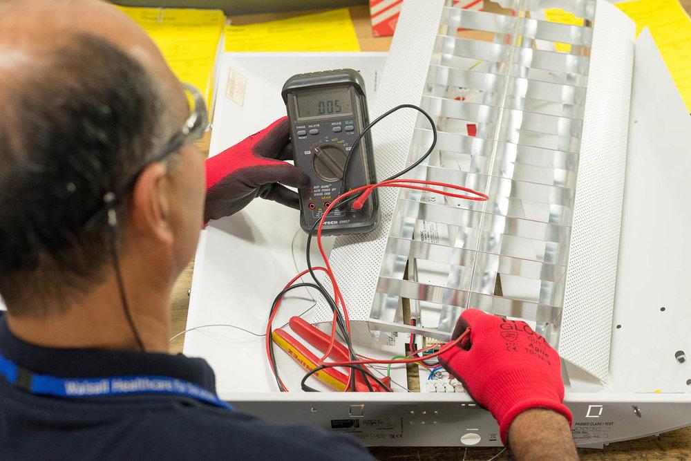 Electric testing equipment