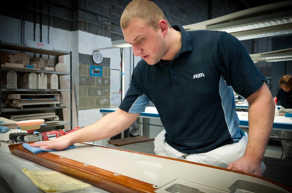 polishing composite panel