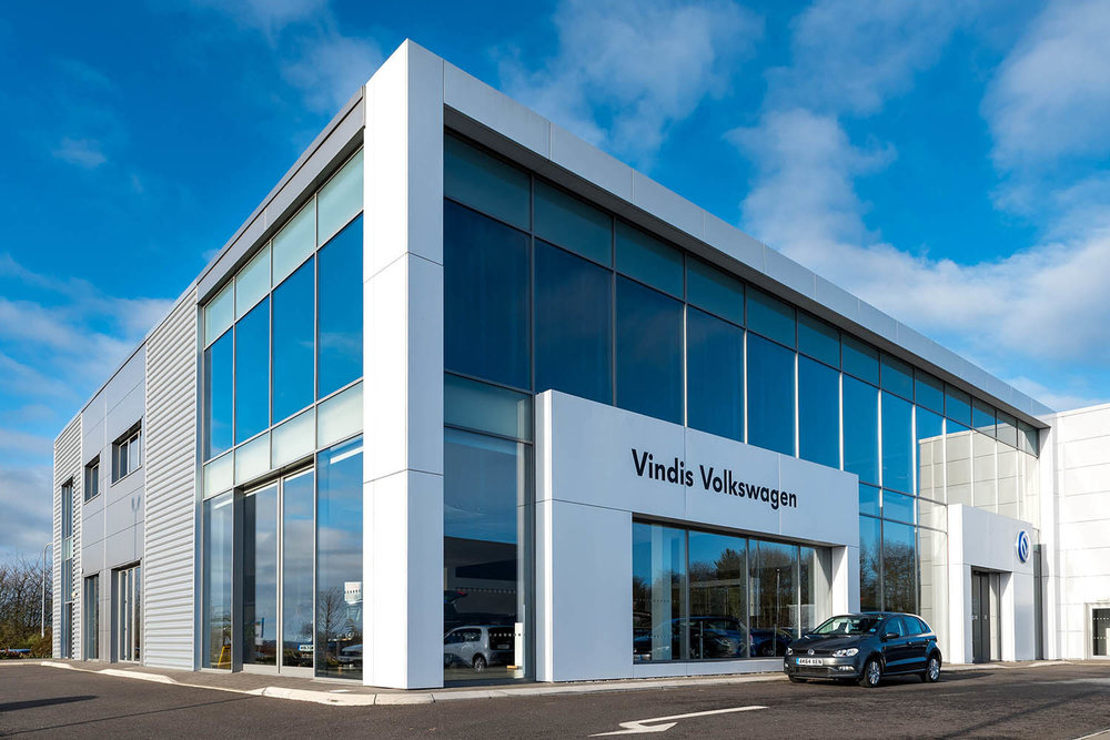 Vindis Volkswagen showrooms in Huntingdon