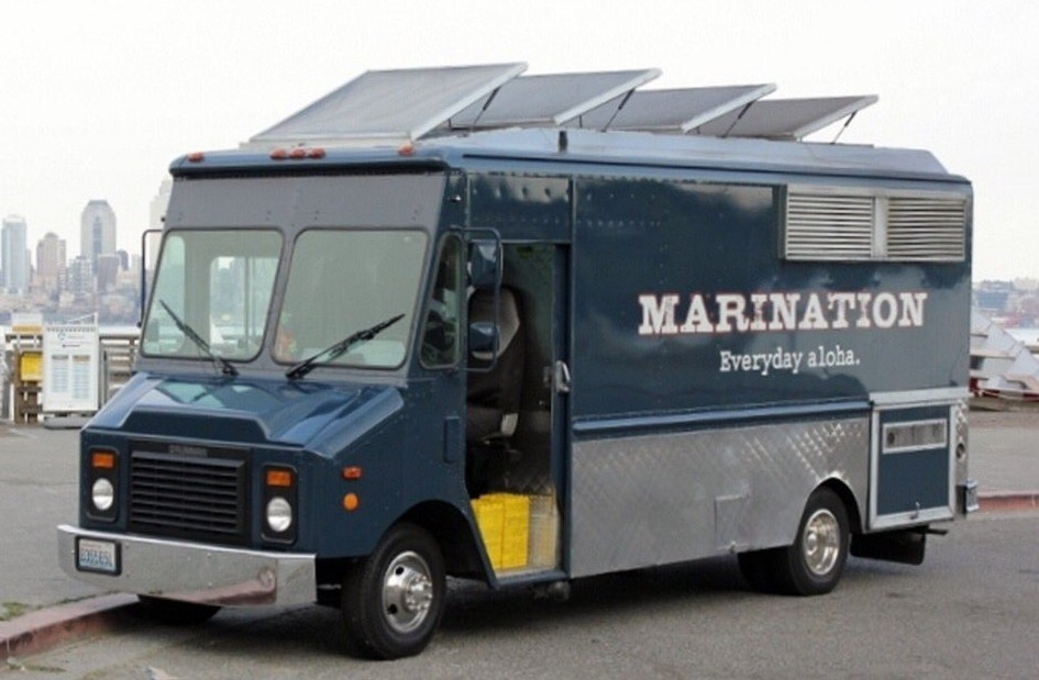 Marination - Asian HawaiianFacebookTwitter Account: @curb_cuisineWebsite: marinationmobile.comEmail: eat@marinationmobile.comAvailable for cateringAlso serves in Bellevue and Redmond