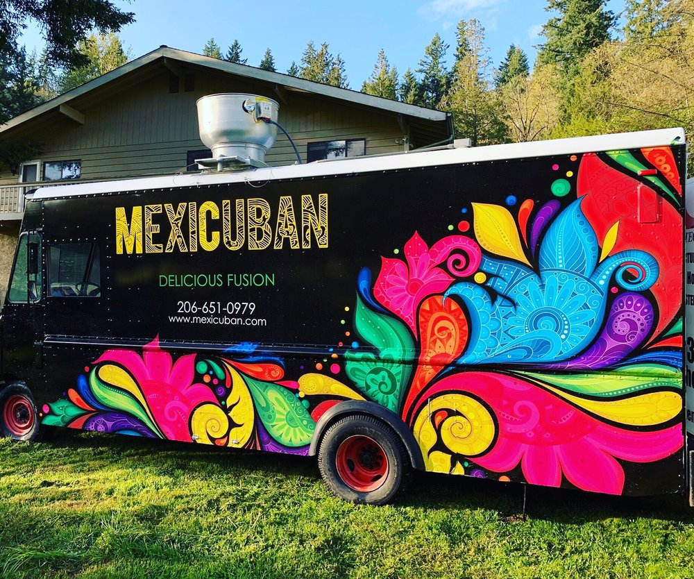 MexiCuban - Find on FacebookEmail: Mexicubantruck@gmail.comPhone: (206) 651-0979Available for cateringAlso serves in: Renton, Bellevue & Issaquah