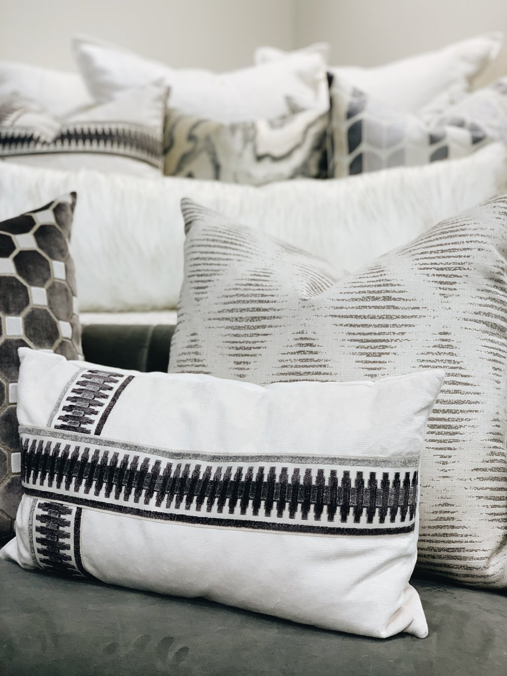 pattered throw pillows