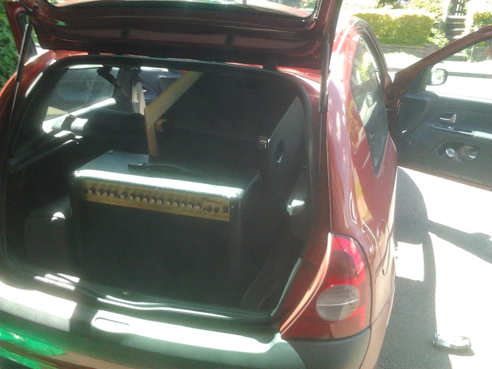 - I acquired a small car which was completely inadequate for the use of a band..