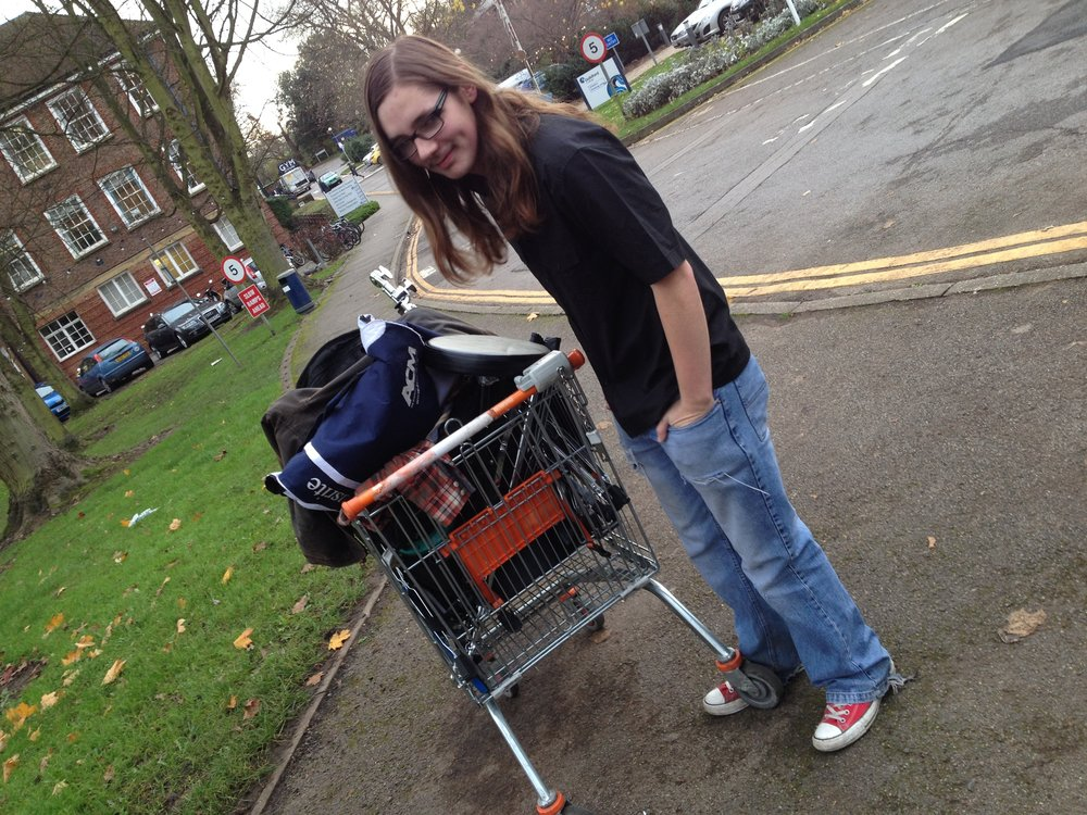 - I sold my car and we adopted a trolly as the band vehicle.