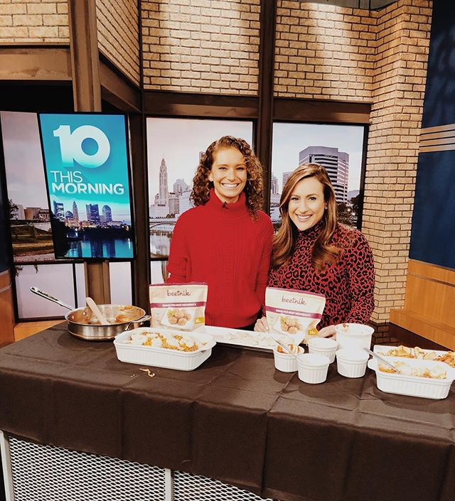 Breaking news: it's national meatball day 🍝 Thanks for having me, @wbns10tv 📺