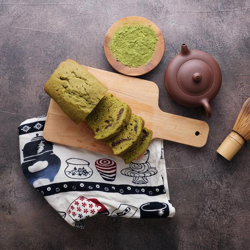 Rich Matcha Azuki Pound Cake